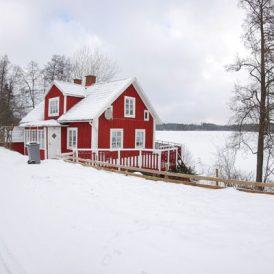 Zweden gestrand op een eiland