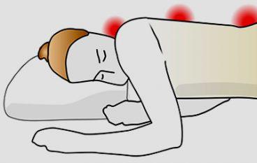 Een goede slaaphouding kan klachten voorkomen